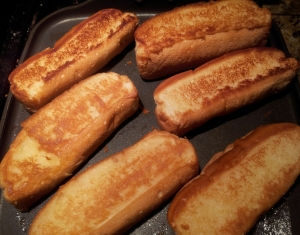Butter Toasted New England Style Hotdog Rolls