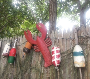 lobster and buoys