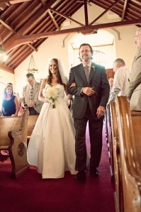 vic and phil walking down aisle