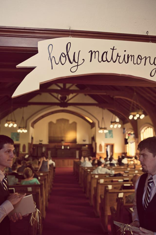 vic holy matrimony sign