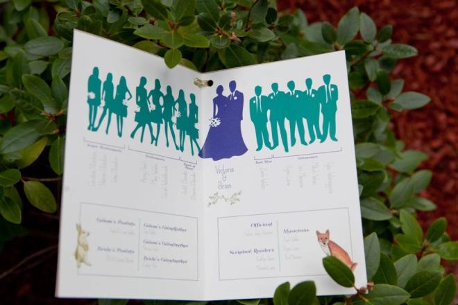 Details in the very unique program were designed by a friend of the happy couple.