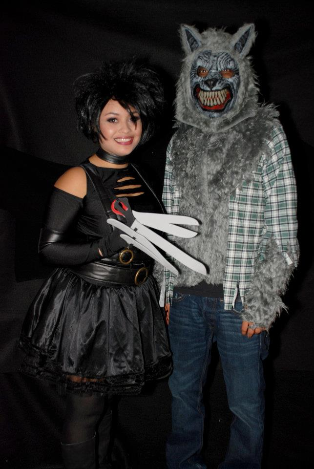 halloween edward scissor hands and wolf