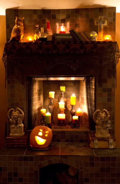 halloween fireplace
