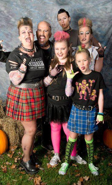 Halloween Grunge Family