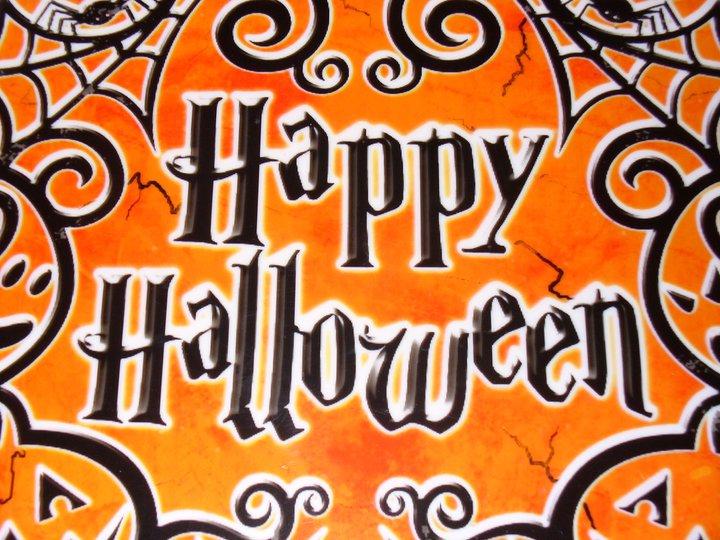 halloween happy halloween sign