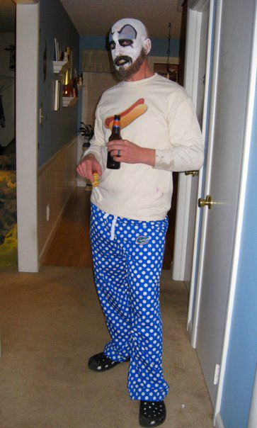 halloween josh with hotdog shirt