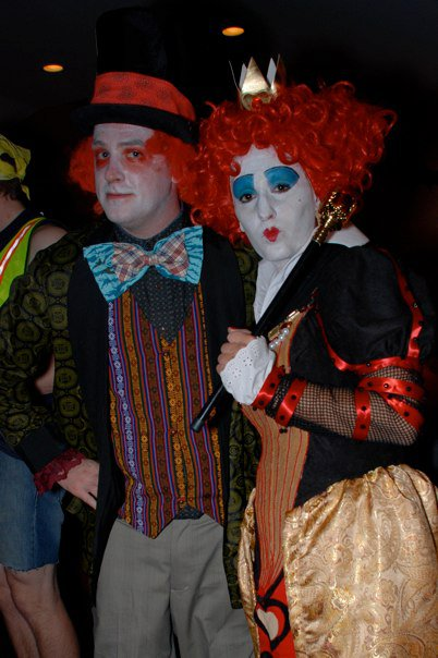 halloween mad hatter and queen of hearts