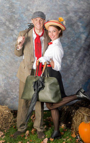 halloween mary poppins and burt with bag