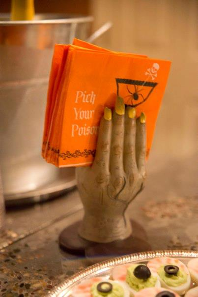 halloween pick your poison napkins