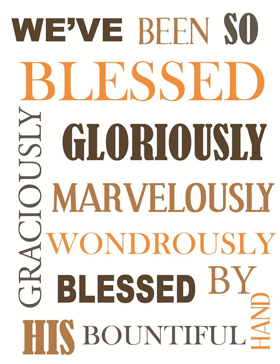 thankful words