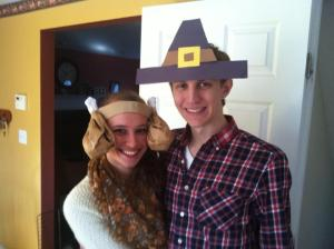 Vic and Brian in Thanksgiving get up 2012
