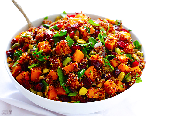 Roasted Winter Squash with Cous Cous, Cranberries & Pistachios