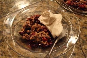 Berry Crisp with Coconut Ice Cream 022314
