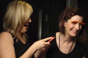ccg orange lashes laughing girls