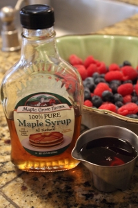 Maple Syrup to sweeten fruit crisp 022314