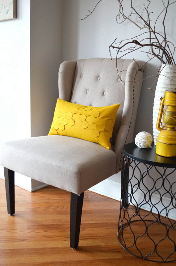 honeycomb pillow etsy