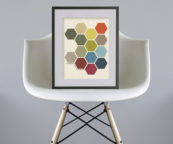 Honeycomb print download Etsy