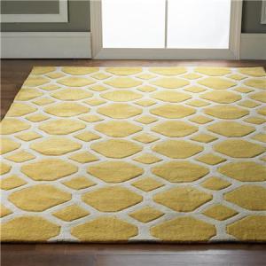 honeycomb rug yellow