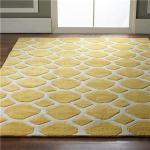 honeycomb rug yellow