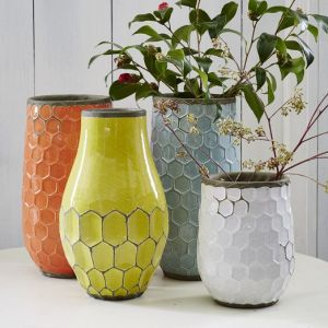 HONEYCOMB VASES WEST ELM