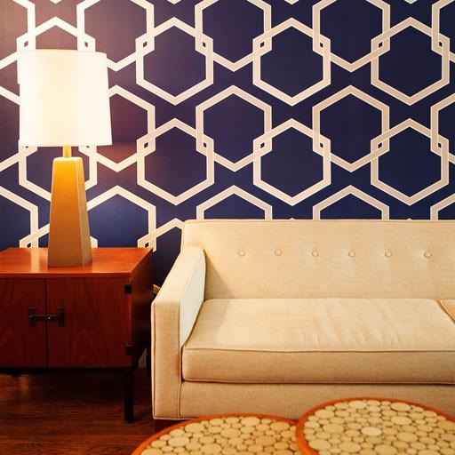 honeycomb-deep-blue wallpaper