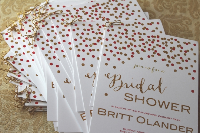 Shower Invites with little bows brighter