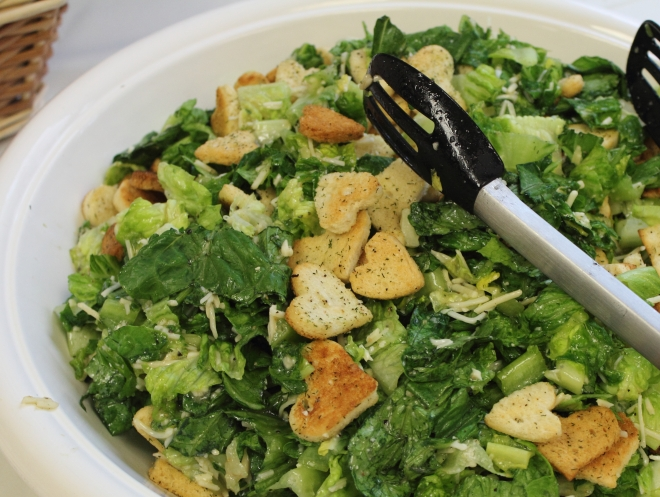 Shower Caesar Salad