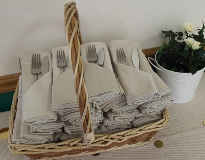 Shower Napkin Basket