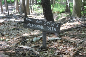 Summer Memorial path sign