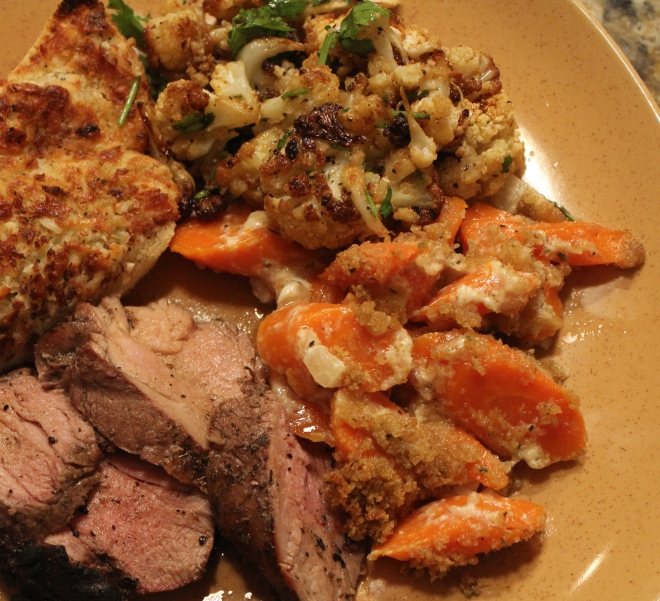 Zesty Carrots with Pork Dinner