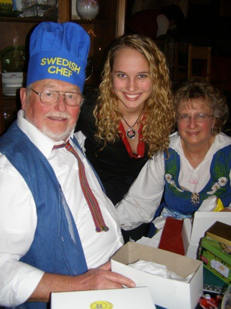 Dad and Mom in Swedish Costumes