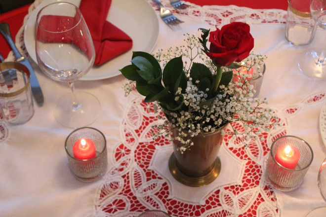 Valentines Dinner 26 Table Setting
