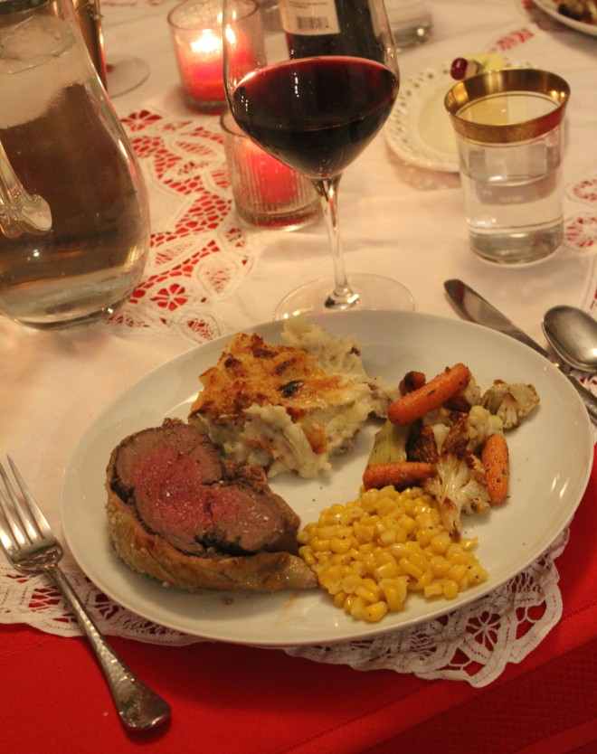 Valentines Dinner 30 Beef Wellington Dinner Plate